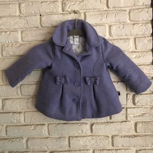ADORABLE Lavendar Toddler Girls Pea Coat 2T